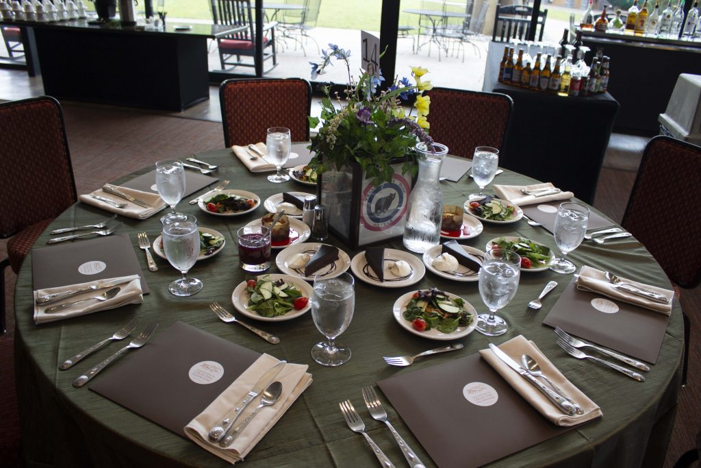 dining table from a program from the 2019 Collecting Yellowstone conference